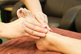 reflexology on foot